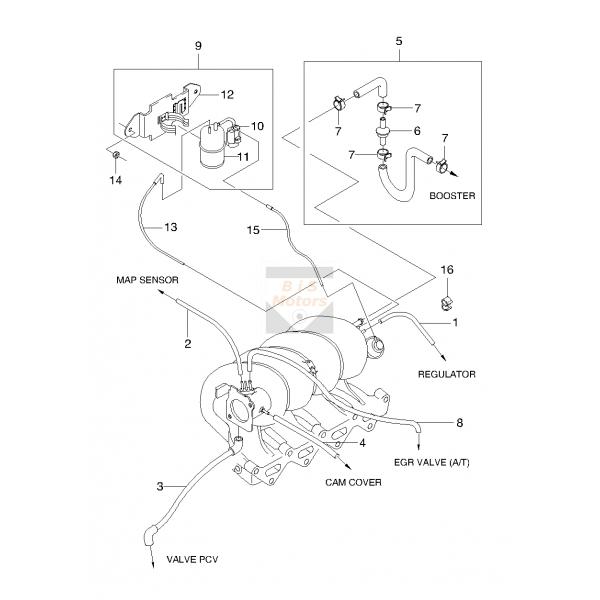 Daewoo Vacuum Diagram - query on